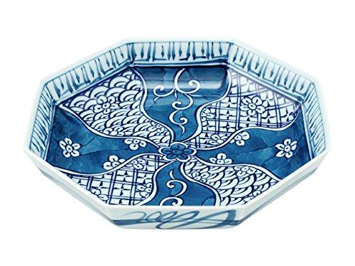 Octagonal shallowed Bowl with wooden box Cracking ground pattern 45026620, Asian, Oriental, Japanese dish plates Traditional Collection/Yamashita Craft ()