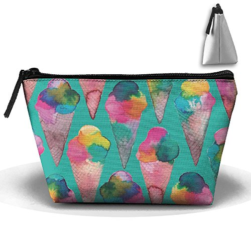 RPTMUB Icecream Water Color Portable Storage Pouch Bag Case Accessories Organizer Cosmetic Bag Toiletry Bag Handy Bag Travel Makeup Beauty Bag Grooming Kit For - Sunglasses For Being Best Water On The
