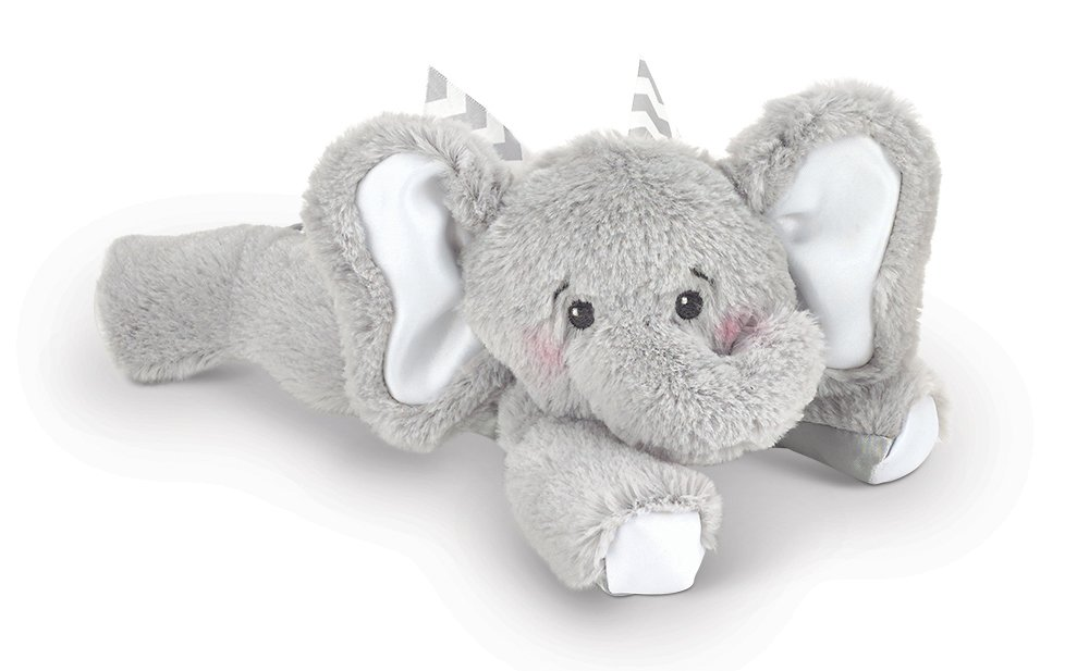 Bearington Baby Spout Plush Stuffed Animal Elephant Rattle, 8 8 Bearington Collection