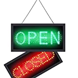 Ultra Bright LED Neon Light 2 in 1 Open Closed Sign, Business Signs Advertisement Board for Cafe Bar Pub Coffee Store Wall Window Display Sign