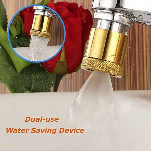 蛇口エアレーター節水バブラー調整水フィルターディフューザー24X1おねじ蛇口コネクタキッチンアクセサリー (Color : Gold)
