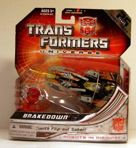 Transformers Universe 25th Anniversary Brakedown Action Figure with Flip-Out Saber