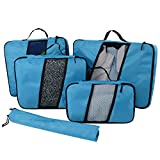 Rotanet 4 Set Packing Cubes - Travel Luggage Packing Organizers with Laundry Bag Or Toiletry Bag