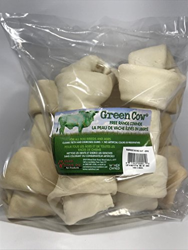Green Cow Rawhide Bone 8-9