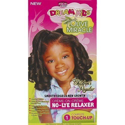 African Pride Relaxer Kit (African Pride Dream Kids No-Lye Regular Relaxer Touch Up Kit by African Pride)