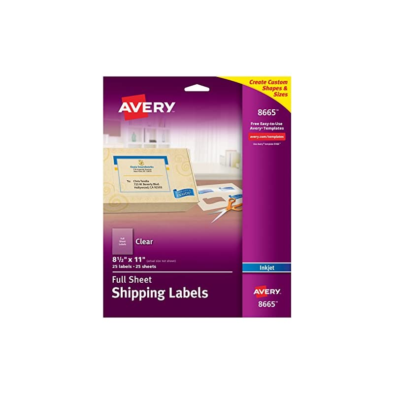 Avery Matte Frosted Clear Full Sheet Lab