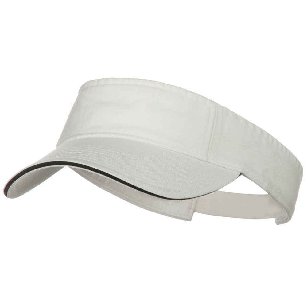 White Black W38S37F Prostyle Cotton Twill Washed Sandwich Visor