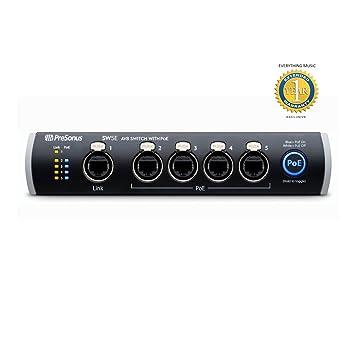 PreSonus interruptor de BAV de 5 puertos con PoE SW5E: Amazon.es: Instrumentos musicales