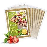 Lizza Low-Carb Pizzateig aus Lein- und Chiasamen. Bio. Glutenfrei. Vegan. (8 x 180g)