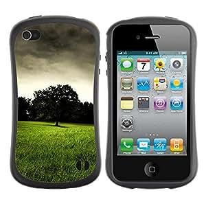 Pulsar iFace Series Tpu silicona Carcasa Funda Case para Apple iPhone 4 / iPhone 4S , Dark prairie