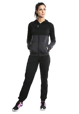 1068a11e1fdbb Reebok BPK33 Survêtement Femme, Noir, FR   XS (Taille Fabricant   XS)