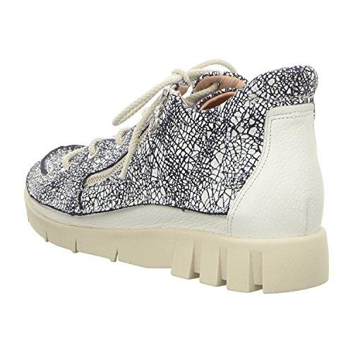 Softwaves 6.94.22 Blue/White - Zapatos de cordones de Piel para mujer azul y blanco