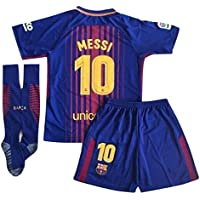 10 Messi Barcelona Home Kids Youth Soccer Jersey & Shorts...