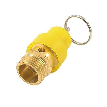 Amico air Compressor PT 1//2 Male Thread Brass Safety Valve