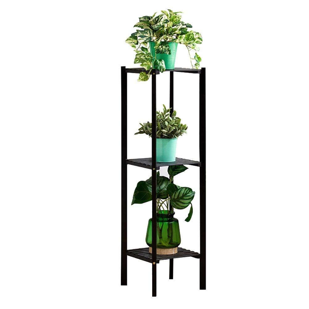 Bamboo Flower Stand Plant Display Rack Multi-Layer Plant Stand Flower Display Rack di stoccaggio Flowerpot per Indoor Outdoor Garden (Dimensioni   27×27×90cm)