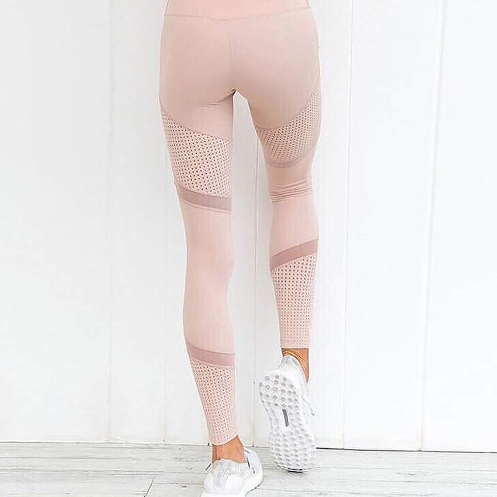 Rcool Leggings Sportivi Donna Pantaloni Yoga Donna Vita alta Fitness Spandex Palestra Pantaloni Jogging Donna Leggins Tuta Allenamento Eleganti Cuciture a maglie