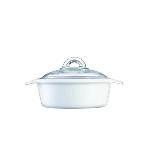 Luminarc 17350, Vitro cacerola con tapa 1.0l, Color blanco: Amazon ...