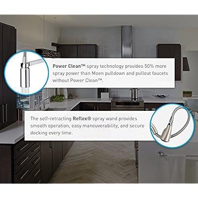Buy Moen 7864bl Sleek One Handle High Arc Pulldown Kitchen Faucet Featuring Power Boost Matte Black Online In Vietnam B073k54d2m