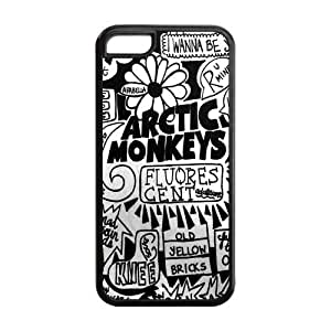 Personalized Snap-on TPU Rubber Coated Case Cover for iPhone 5C [AM Arctic Monkeys]