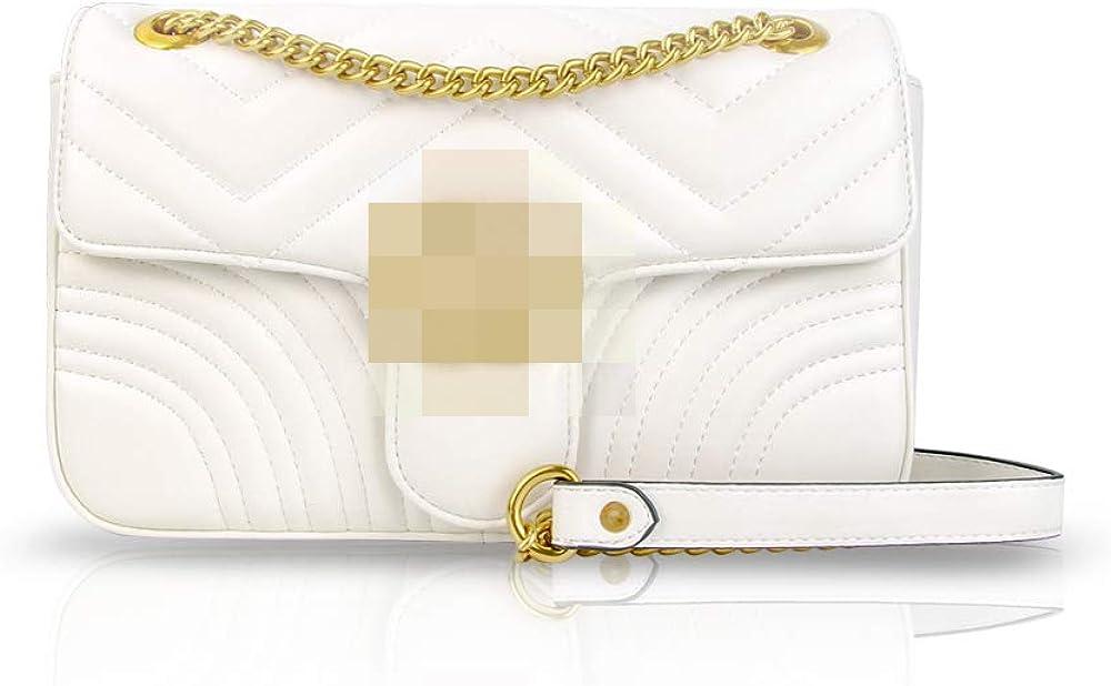 Aust Womens Classic Quilted Crossbody Purse Shoulder Bags Golden Chain Satchel Handbags