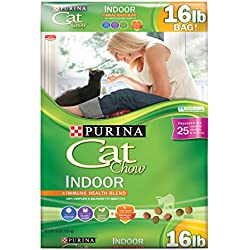 Purina Cat Chow Dry Cat Food, Indoor Formula, 16 Pound Bag, Pack of 1