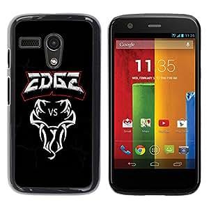 PC/Aluminum Funda Carcasa protectora para Motorola Moto G 1 1ST Gen I X1032 Edge VS Snake / JUSTGO PHONE PROTECTOR