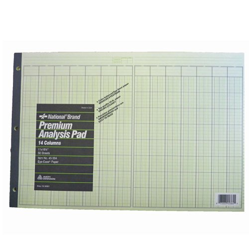 45364 National Brand Premium Analysis 2 Pack of Pads 11 x 16 3/8 -14 Columns