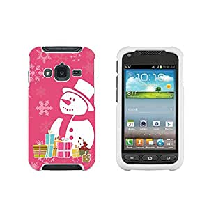 Spots8 For Samsung Galaxy Rugby Pro i547 (At&t) Glossy Image Hard Case 2 Piece Snap On Cellphone Plastic Cover - Snowman Design
