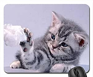 Kitten photography Mouse Pad, Mousepad (Cats Mouse Pad, Watercolor style) by mcsharks