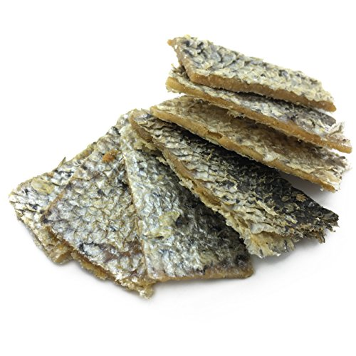 Peppy Pooch Salmon Skin Bites with Pork - Dog Treats 12 oz. All Natural, Grain Free Soft Chews. Made in USA.