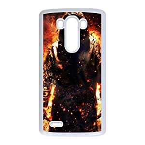 LG G3 Cell Phone Case White Fire RSA