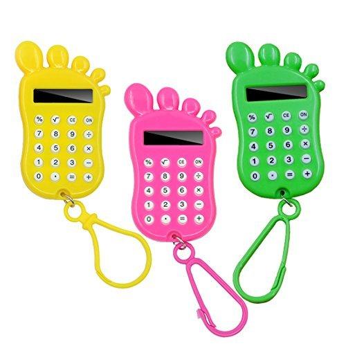 fineinno linda de los niños Calculadora para niños niños niños niñas Chirstmas regalo y la escuela, pack of 3 foot