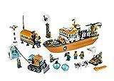 snow sled with steering wheel - Lego City ice breaker ship 60062