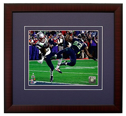 Malcolm Butler of The New England Patriots, Interception In the 4th Quarter Of Super Bowl XLIX 49.8x10 Photo Framed Picture.