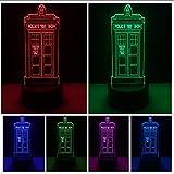 Creative Police Pavilion Box 7 Color Gradient Mood Led Night Lights Illusion Desk Home Decor Child Kids Baby Xmas Year Gifts Lbonb