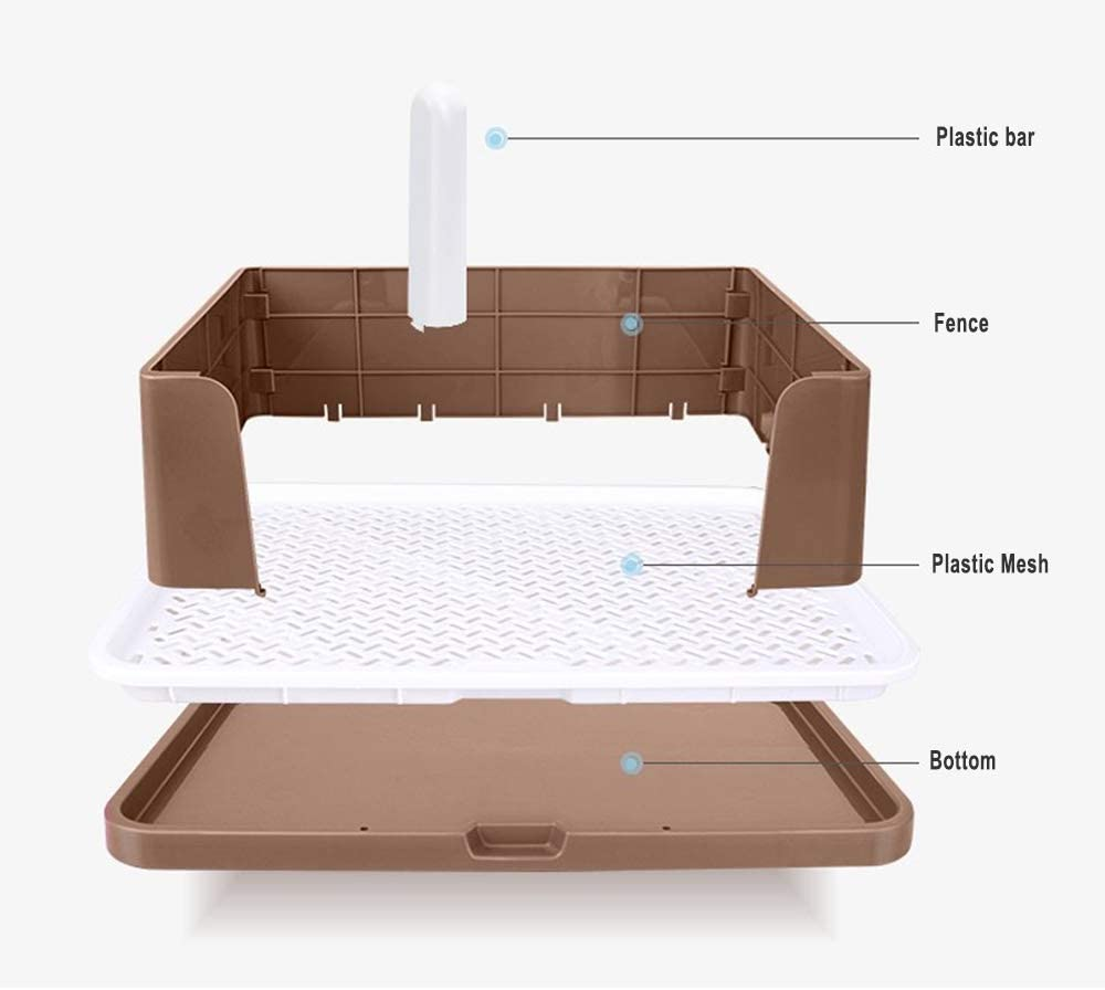 Dog Potty,2 in 1 Puppy Toilet .Female and Male Small Dog Training Tray,Alternative Pet Pad .Restroom for XS Dog Chihuahua Minlature Pinscher