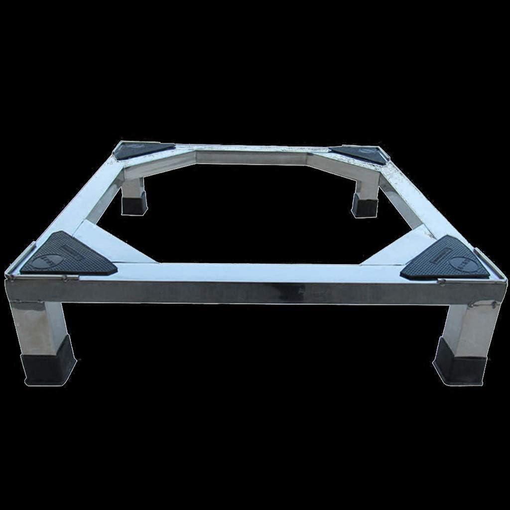家庭用電化製品ステンレス鋼ベース防湿滑り止めブラケット洗濯機冷蔵庫ベース(サイズ:60× 50× 10cm)