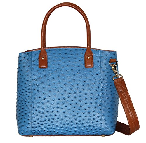 Concealment Purse Town CCW Tote by Gun Draw Righthand Ostrich Tote'n and Left Blue Mamas Carry Concealed BI5wqvEU