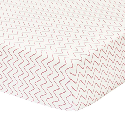 Chloe Fitted Sheet - Petit Nest Chevron Fitted Crib Sheet, Penelope and Chloe Collection