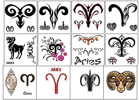 segno zodiacale stella zodiac star sign Temporary Tattoos ...
