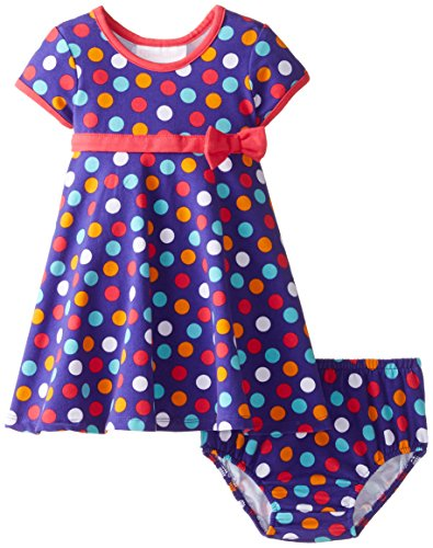 - Bonnie Baby Baby Girls' Knit Dress and Panty Set, Purple, 24 Months