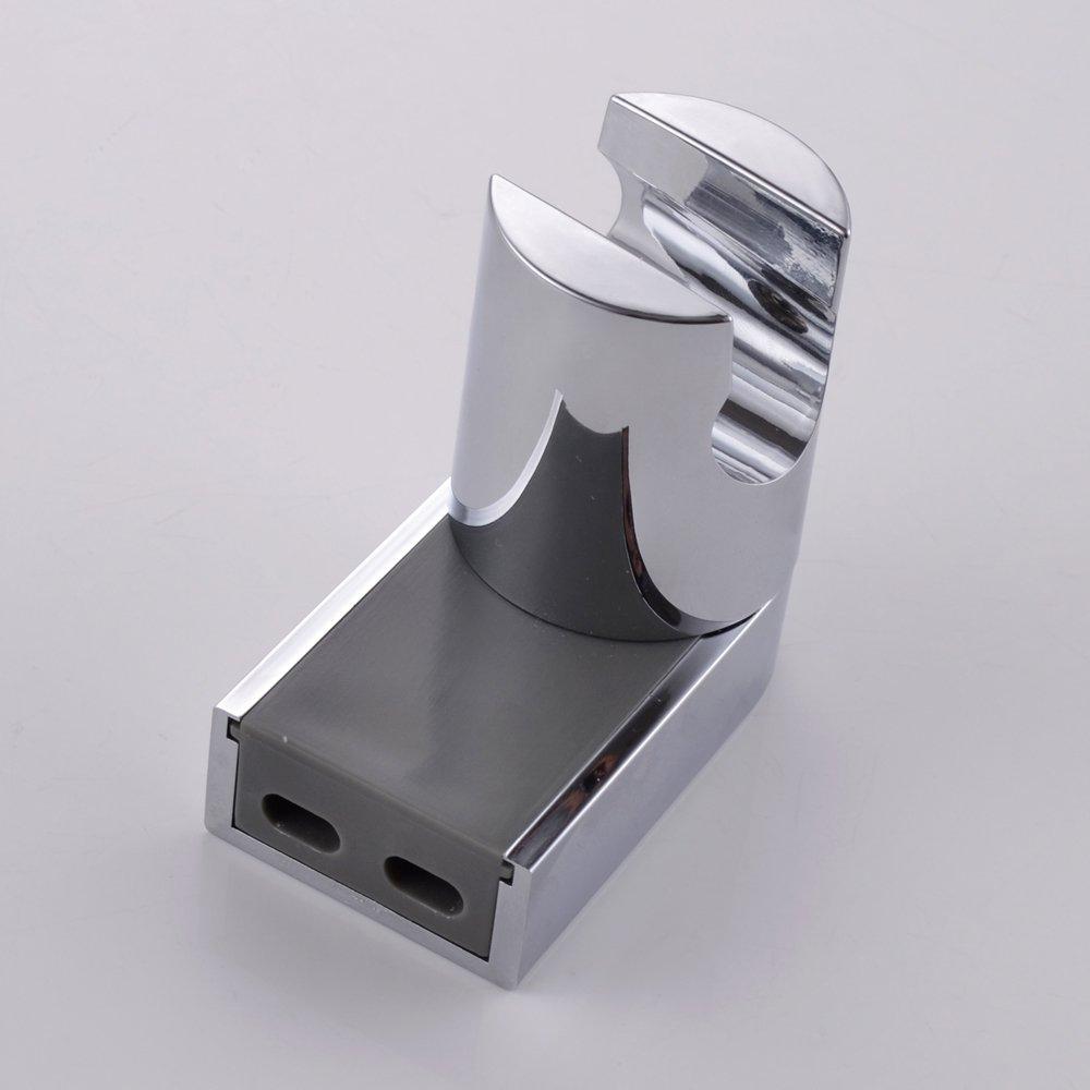 KES Vacuum Suction Cup with Swivel Adjustable Shower Head Holder ;Removable Handheld Showerhead & Bidet Sprayer Adhesive Wall Mount Bracket,Chrome C600 KES Home