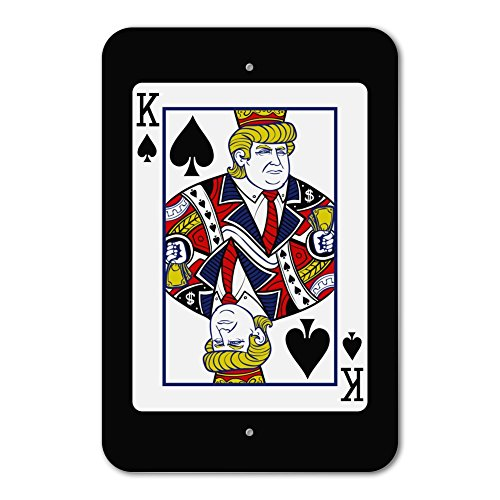 nald Trump King of Spades Card Home Business Office Sign - Plastic - 6