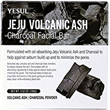 YESUL Jeju Volcanic Ash Charcoal Facial Bar Softlips Cube Lip Protectant Fresh Mint, 0.23 OZ