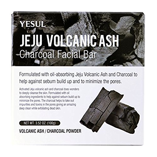 Price comparison product image CS501 Yesul Jeju Volcanic Ash Charcoal Facial Bar, 3.52N OZ (100g)