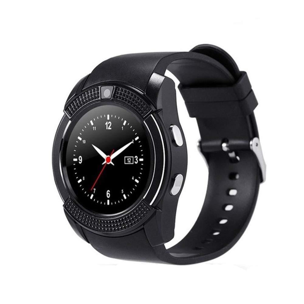 Montre Connectée Compatible avec Motorola Moto G7, CEKA TECH® Montres Connectée Bluetooth, Smart Watch, avec Caméra, Écran Incurvé Tactile, Support SIM/TF ...