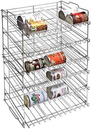 organizzatore da cucina per cibo in scatola finitura cromata Rastrelliera a 3/ripiani impilabili per barattoli Amtido