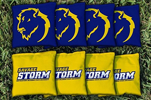 Victory Tailgate NCAA Collegiate Regulation Cornhole Game Bag Set (8 Bags Included, Corn-Filled) - Southeastern Oklahoma State Savage Storm by Victory Tailgate