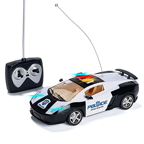 ol Police Car with LED Lights and Rc Police Siren Sounds RC Police Car Toys for Boys Best Christmas gift for 8-12 year old boys (10 Best Cars)