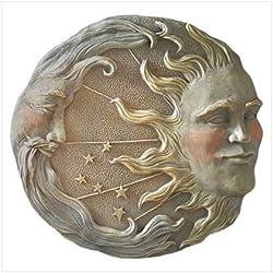 Celestial Sun Moon Star Wall Plaque Astral Garden Decor,Garden,Wall Plaque